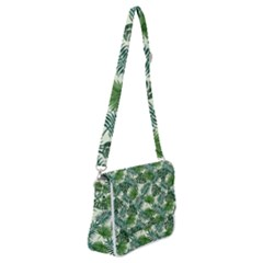 Leaves Tropical Wallpaper Foliage Shoulder Bag With Back Zipper by Pakrebo