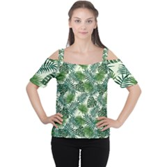 Leaves Tropical Wallpaper Foliage Cutout Shoulder Tee