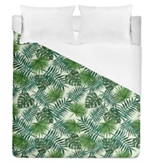 Leaves Tropical Wallpaper Foliage Duvet Cover (Queen Size)