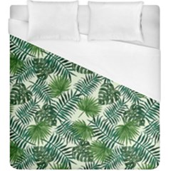 Leaves Tropical Wallpaper Foliage Duvet Cover (King Size)