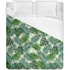 Leaves Tropical Wallpaper Foliage Duvet Cover (California King Size)