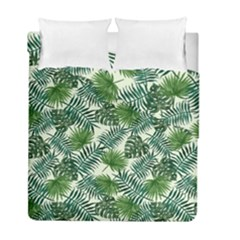 Leaves Tropical Wallpaper Foliage Duvet Cover Double Side (Full/ Double Size)