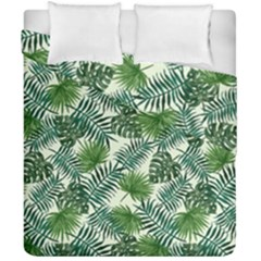 Leaves Tropical Wallpaper Foliage Duvet Cover Double Side (california King Size)