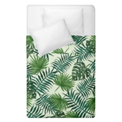 Leaves Tropical Wallpaper Foliage Duvet Cover Double Side (single Size) by Pakrebo