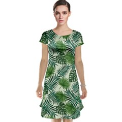 Leaves Tropical Wallpaper Foliage Cap Sleeve Nightdress
