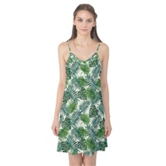 Leaves Tropical Wallpaper Foliage Camis Nightgown by Pakrebo