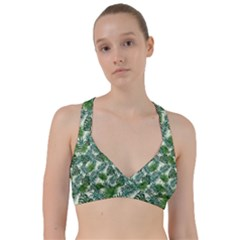 Leaves Tropical Wallpaper Foliage Sweetheart Sports Bra