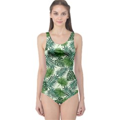 Leaves Tropical Wallpaper Foliage One Piece Swimsuit