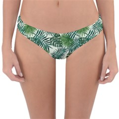 Leaves Tropical Wallpaper Foliage Reversible Hipster Bikini Bottoms