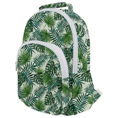 Leaves Tropical Wallpaper Foliage Rounded Multi Pocket Backpack