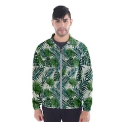 Leaves Tropical Wallpaper Foliage Men s Windbreaker