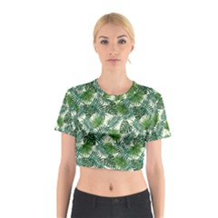 Leaves Tropical Wallpaper Foliage Cotton Crop Top