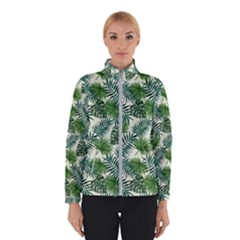 Leaves Tropical Wallpaper Foliage Winter Jacket