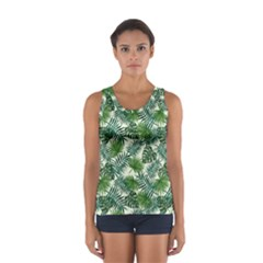 Leaves Tropical Wallpaper Foliage Sport Tank Top