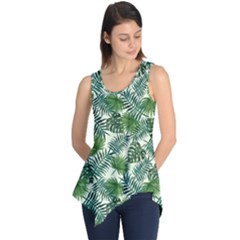 Leaves Tropical Wallpaper Foliage Sleeveless Tunic