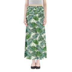 Leaves Tropical Wallpaper Foliage Full Length Maxi Skirt