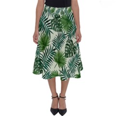 Leaves Tropical Wallpaper Foliage Perfect Length Midi Skirt