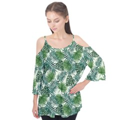 Leaves Tropical Wallpaper Foliage Flutter Tees