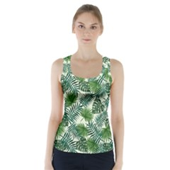 Leaves Tropical Wallpaper Foliage Racer Back Sports Top