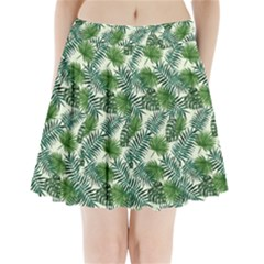 Leaves Tropical Wallpaper Foliage Pleated Mini Skirt