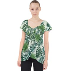 Leaves Tropical Wallpaper Foliage Lace Front Dolly Top