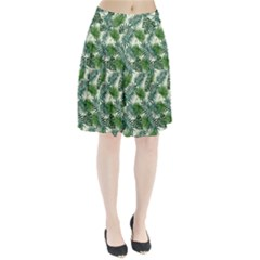 Leaves Tropical Wallpaper Foliage Pleated Skirt