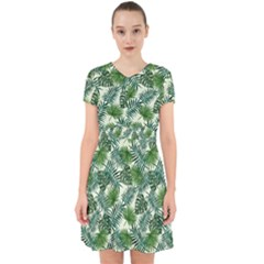 Leaves Tropical Wallpaper Foliage Adorable in Chiffon Dress