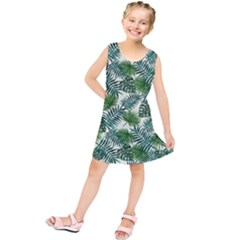 Leaves Tropical Wallpaper Foliage Kids  Tunic Dress