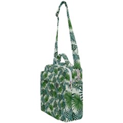 Leaves Tropical Wallpaper Foliage Crossbody Day Bag