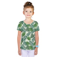 Leaves Tropical Wallpaper Foliage Kids  One Piece Tee