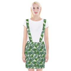 Leaves Tropical Wallpaper Foliage Braces Suspender Skirt