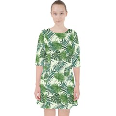 Leaves Tropical Wallpaper Foliage Pocket Dress