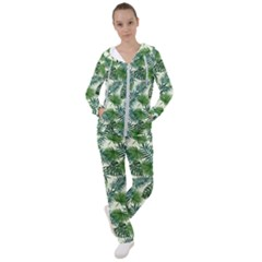 Leaves Tropical Wallpaper Foliage Women s Tracksuit