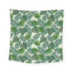 Leaves Tropical Wallpaper Foliage Square Tapestry (Small)