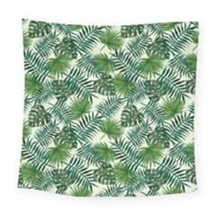 Leaves Tropical Wallpaper Foliage Square Tapestry (Large)