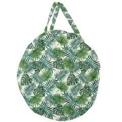 Leaves Tropical Wallpaper Foliage Giant Round Zipper Tote