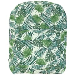 Leaves Tropical Wallpaper Foliage Full Print Backpack