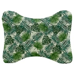 Leaves Tropical Wallpaper Foliage Velour Seat Head Rest Cushion