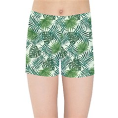 Leaves Tropical Wallpaper Foliage Kids  Sports Shorts