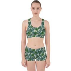 Leaves Tropical Wallpaper Foliage Work It Out Gym Set