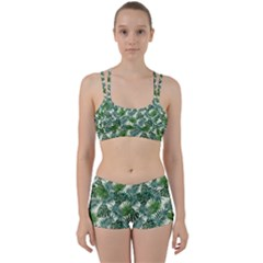 Leaves Tropical Wallpaper Foliage Perfect Fit Gym Set