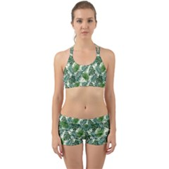 Leaves Tropical Wallpaper Foliage Back Web Gym Set