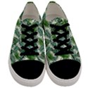 Leaves Tropical Wallpaper Foliage Men s Low Top Canvas Sneakers View1
