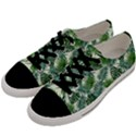Leaves Tropical Wallpaper Foliage Men s Low Top Canvas Sneakers View2