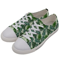 Leaves Tropical Wallpaper Foliage Women s Low Top Canvas Sneakers