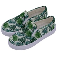 Leaves Tropical Wallpaper Foliage Kids  Canvas Slip Ons