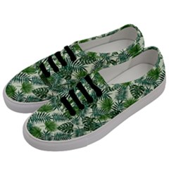 Leaves Tropical Wallpaper Foliage Men s Classic Low Top Sneakers