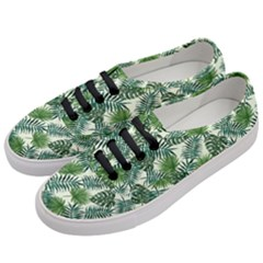 Leaves Tropical Wallpaper Foliage Women s Classic Low Top Sneakers by Pakrebo