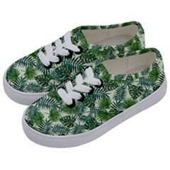 Leaves Tropical Wallpaper Foliage Kids  Classic Low Top Sneakers