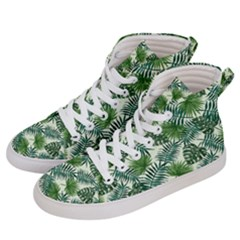 Leaves Tropical Wallpaper Foliage Men s Hi Top Skate Sneakers by Pakrebo